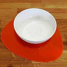 Placemats - Pebble Shaped - Orange - 4 Set - Large