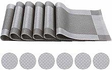 Placemats PVC Fabric Non-Slip Heat Insulation