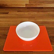 Placemats - Rectangular - Orange - 6 Set - Large