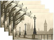 Placemats Retro London Place Mats Dining Table
