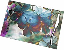 Placemats Set Of 4 For Dining Table , Non-Slip