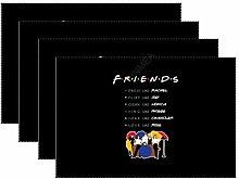 Placemats Set Of 4 For Dinner Table Friends Like A