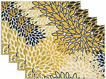Placemats Set Of 4 For Dinner Table Navy Blue And