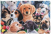 Placemats Set of 6 PVC Cute Puppy Dog Dining Table