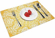 Placemats Sets of 4 Table Mats Washable Heat