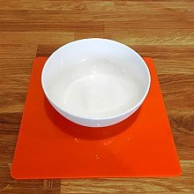 Placemats - Square - Orange - 6 Set - Large