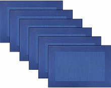 Placemats Vinyl Twill Weave Heat-Resistant Table
