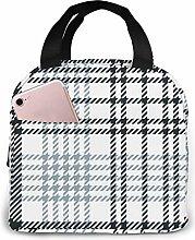 Plaid Glen Check Dark Insulated Lunch Bag Lunch
