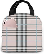 Plaid Pattern 52 Portable Insulated Lunch Bag