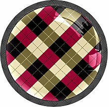 Plaid Pattern Knobs and Pull Handle for Dresser