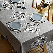 Plaid Pvc Tablecloth Waterproof, Oil-Proof And
