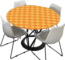 Plaid Round Tablecloth for Circular Table, Morbuy