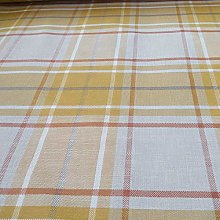 Plaid Tartan Striped Upholstery Fabric by The