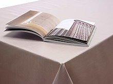 Plain Beige Taupe Linen Effect PVC Vinyl Wipe