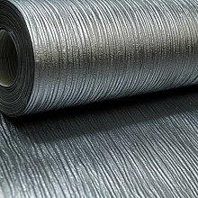 Plain Cassiel Textured Metallic Silver Charcoal