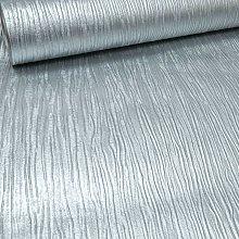Plain Cassiel Textured Metallic Silver Shimmer