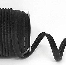 Plain Colour 10mm Wide Velvet Piping Bias Binding