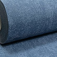 Plain Dark Navy Blue Textured Vinyl Thick Quality