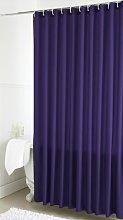 Plain Dye Shower Curtain (Single) - Aubergine -