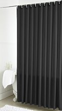 Plain Dye Shower Curtain (Single) - Black - 178cm