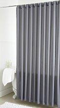 Plain Dye Shower Curtain (Single) - Grey - 178cm x