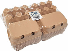 Plain Egg Box (Pack of 20) (One Size) (Brown) -