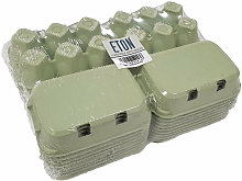 Plain Egg Box (Pack of 20) (One Size) (Green) -