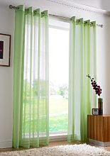 PLAIN EYELET VOILE Net Curtains - Ring Top Voile