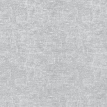 Plain Light Grey Linen Effect Oilcloth Wipe Clean