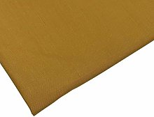 Plain Mustard Polycotton Fabric - 45 inch / 112 cm