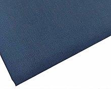 Plain Navy Blue Polycotton Fabric - 45 inch / 112