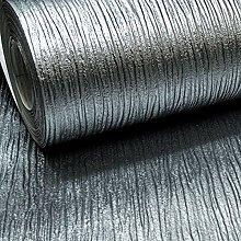 Plain Silver Charcoal Cassiel Textured Metallic