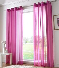Plain Voile Curtain Panel, Ring Top Heading,