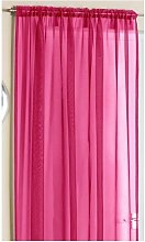 Plain Voile Curtain Panel with Slot top 60'