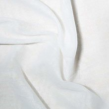 Plain White Linen Look Upholstery Fabric per Meter