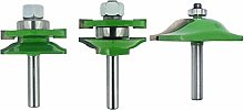 Planer Head Cutting Slot Kit 8mm Handle 3Pcs Door