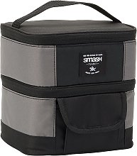 Planet Double Cube Lunch Bag - Black