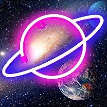Planet Neon Signs Lights, Neon Lights for Bedroom,