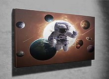 Planets of The Solar System Photo Canvas Print