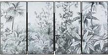 Plant Print Four-Part Canvas Wall Art 43x83