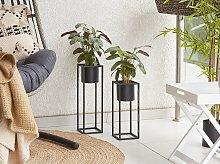 Plant Stand Black Iron 15 x 15 x 50 cm Indoor