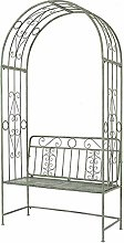Plant Support Structure Garden Arch with Bench,234