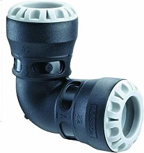 Plass-ONE 20mm MDPE Push-Fit Elbow - 1005 - Pack