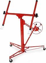 Plasterboard lifter - board lifter, plasterboard hoist, drywall lift - red