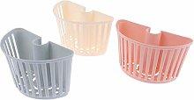 Plastic Bathroom Shelves Shower Bar Storage Basket