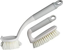Plastic Bristle Brush, 2 Pack Cleaning Brush with