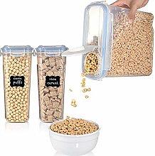 Plastic Cereal Container, 1pc Food Storage Case  