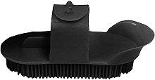 Plastic Curry Comb (L) (Black) - Lincoln