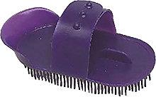 Plastic Curry Comb (L) (Purple) - Lincoln