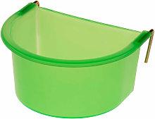 Plastic D Poultry Feeder (300ml) (Green) - Eton